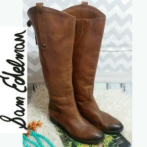 SAM EDELMAN Penny Riding Boots Whiskey color 6.5M